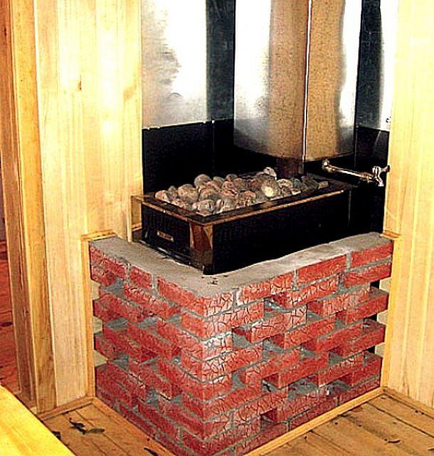 Una delle opzioni per placcatura di un mattone da bagno di ferro