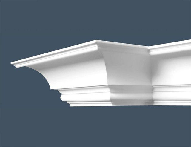 For decorations used figured parts from polystyrene foam or polyurethane