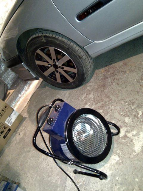 Electric heat gun para sa garahe heating.
