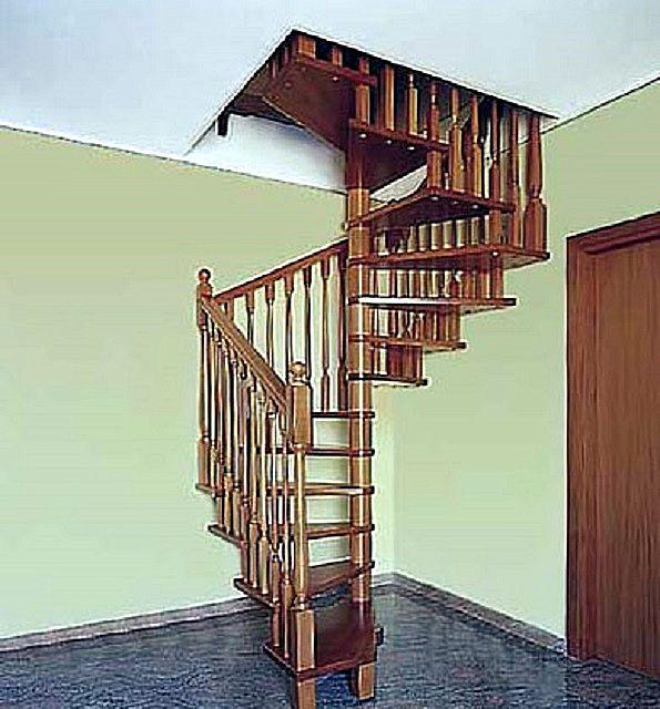 A lépések egy része az épület falához csatlakoztatható