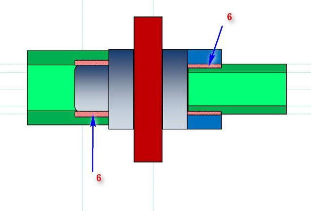 PP 파이프의 용접 용접 원리, 방식 2 호