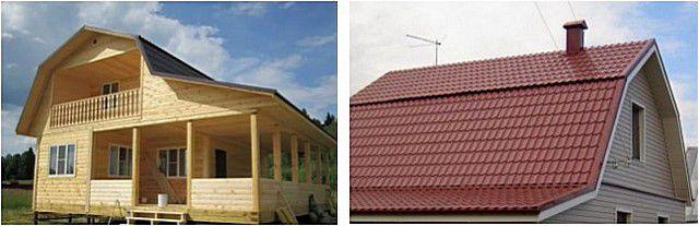 Den trasiga formen på takstavarna görs vanligtvis till förmån för den användbara användningen av vinden.