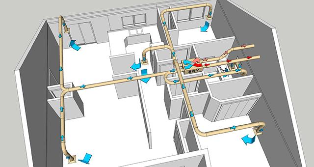 Ventilación en una casa privada: esquema e instalación.