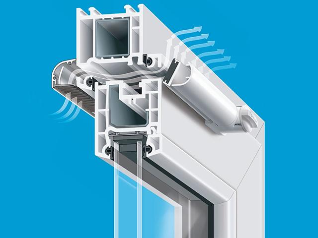 El flujo de aire se puede organizar a través de válvulas especiales montadas en ventanas de plástico