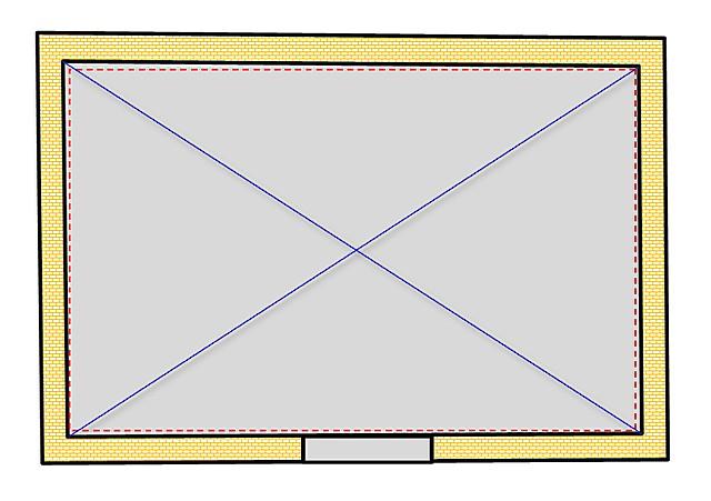 पलस्तर करते समय, आप कमरे के एक सटीक आयताकार आकार को प्राप्त कर सकते हैं, अगर यह मालिकों के लिए महत्वपूर्ण है।
