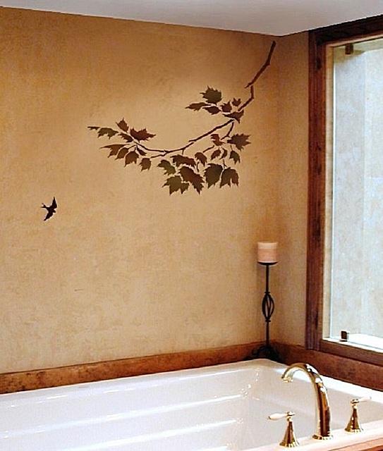 Рисунок на стене в ванной – согласитесь, тоже очень достойный вариант.