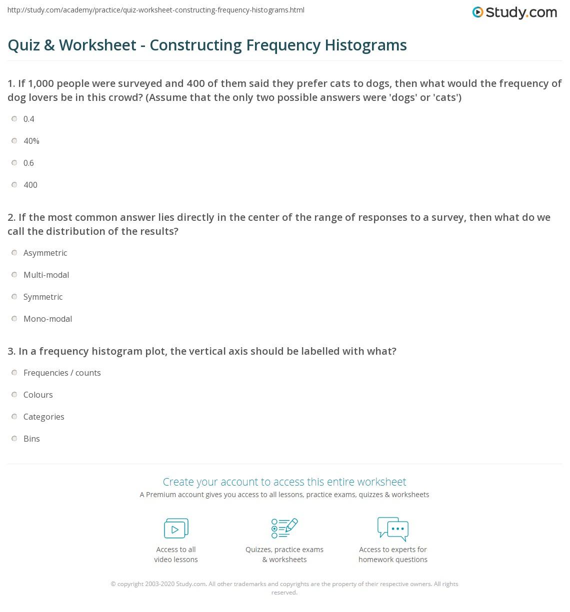 Quiz W Ksheet C Struct G Frequency Histogr Ms Study