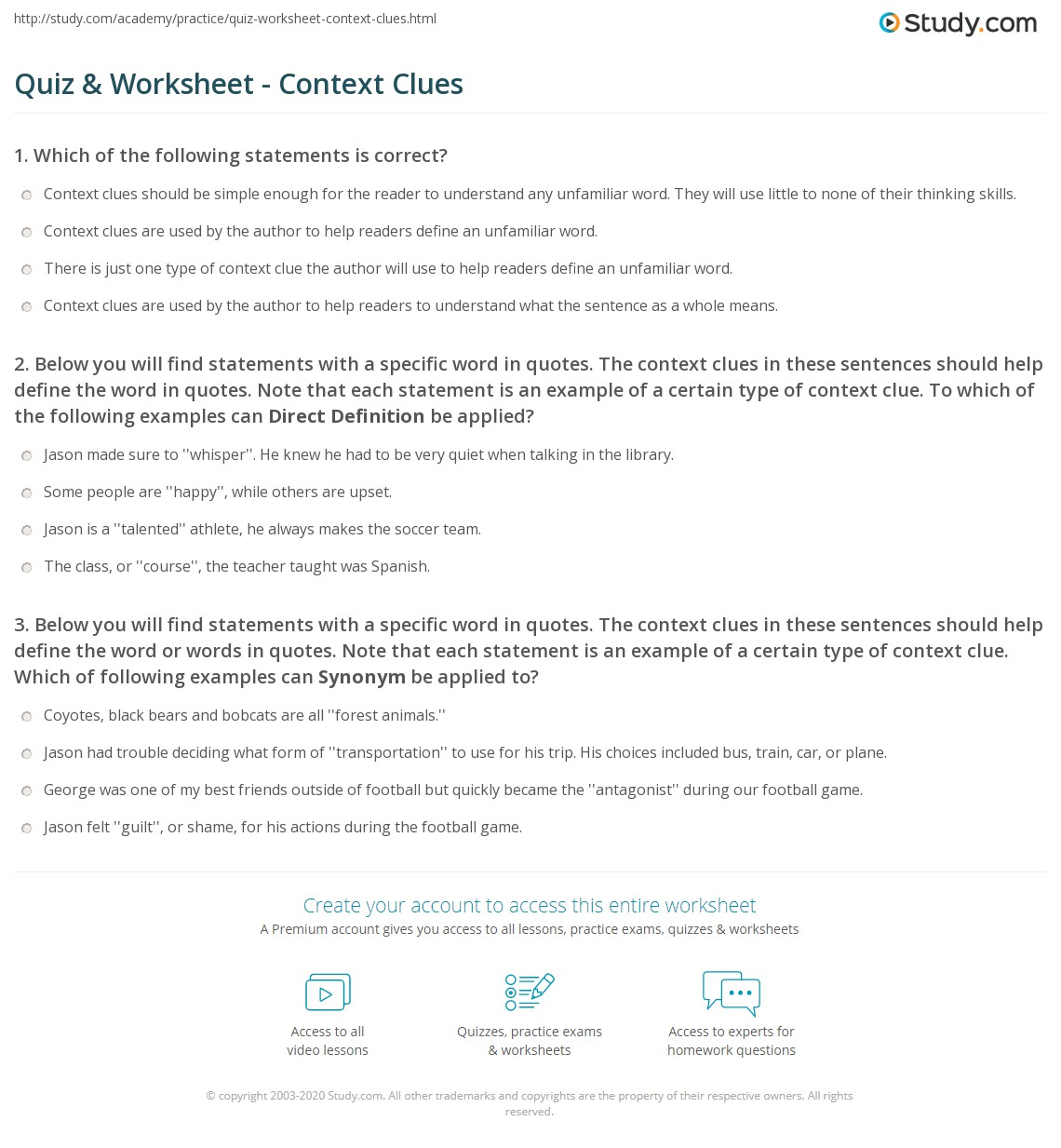 worksheet Context Clues In Paragraphs Worksheets using context clues worksheet free worksheets library download and quiz w ksheet c text study