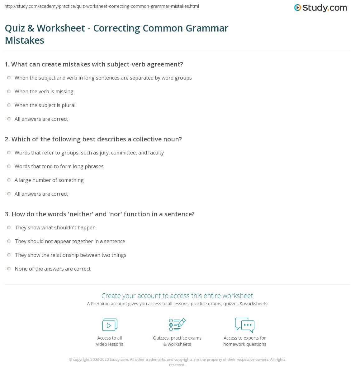 Quiz W Ksheet C Rect G M Gr Mm R Mist Kes Study