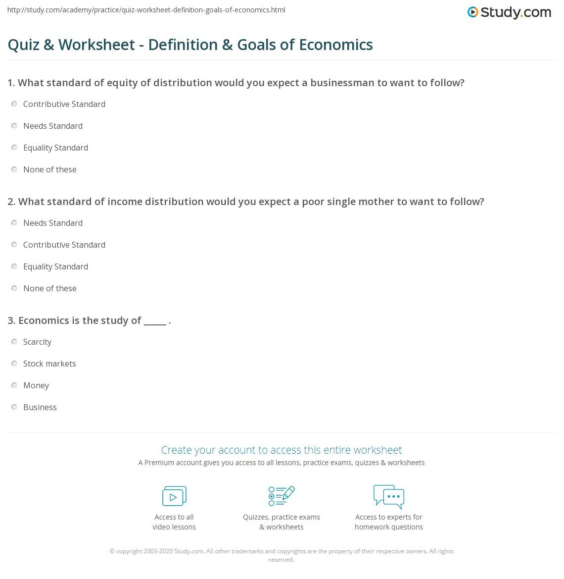 Quiz W Ksheet Def Iti Go Ls Of Ec Omics Study