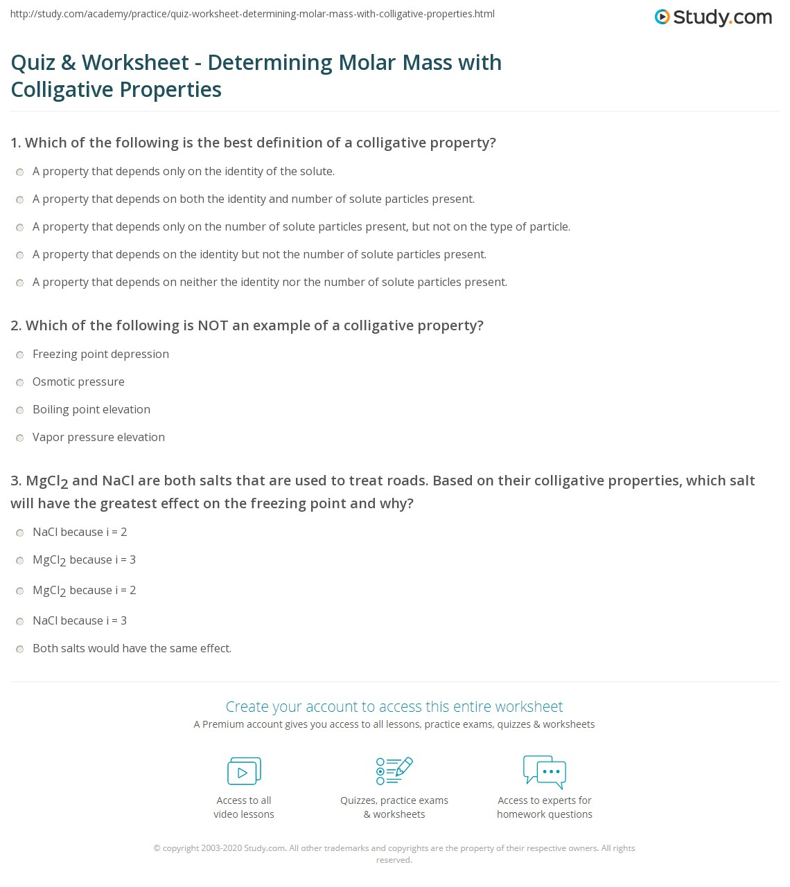 Molecular Mass And Mole Calculations Worksheet Free Worksheets