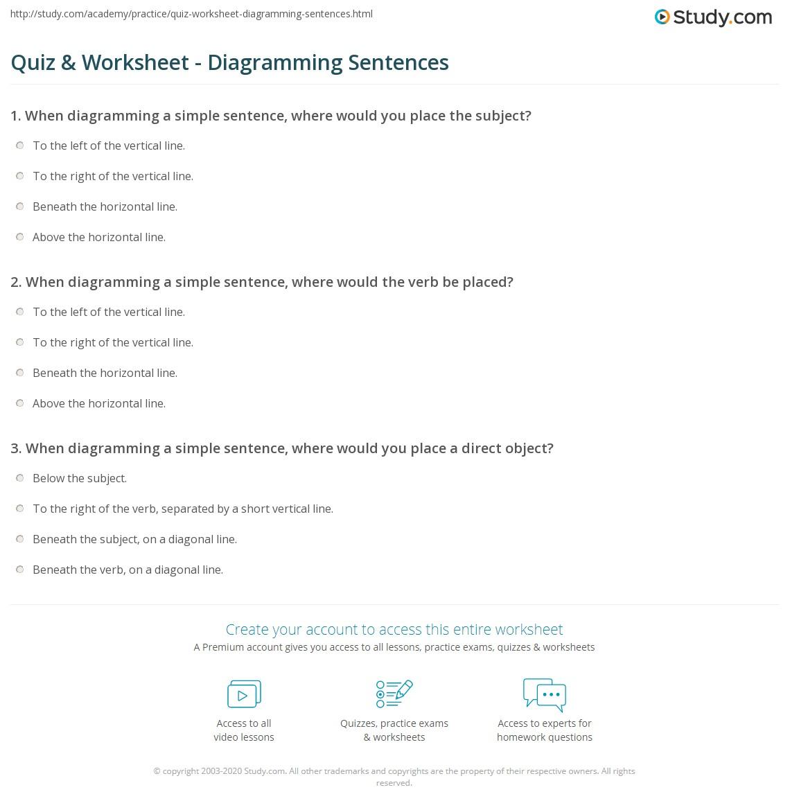 Quiz W Ksheet Di Gr Mm G Sentences Study