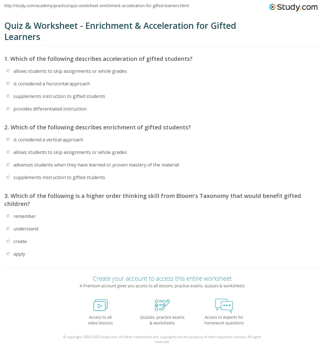 New York City Gifted & Talented Test Practice Questions .