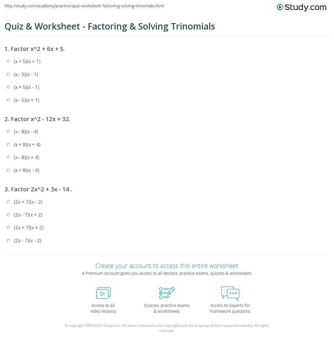 Uncategorized Factoring Trinomials A 1 Worksheet Waytoohuman Free