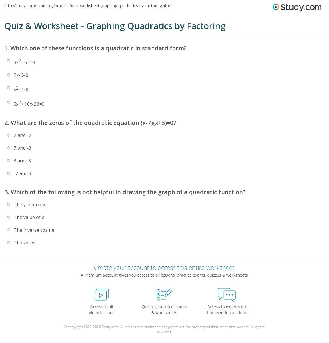 Quiz W Ksheet Gr Ph G Qu Dr Tics By F Ct G Study