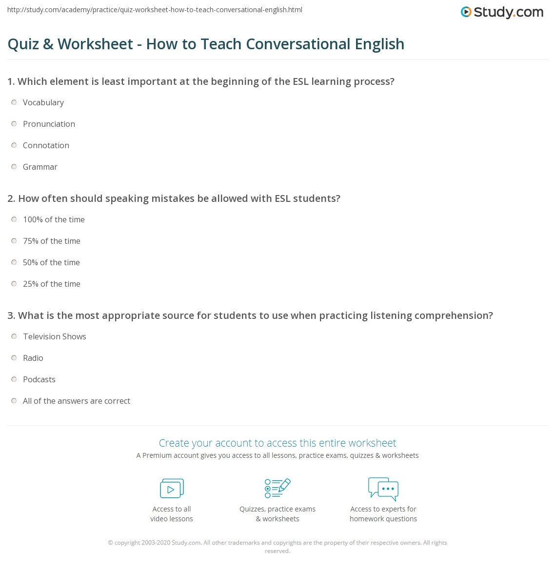 Quiz W Ksheet How To Te Ch C Vers Ti L English Study