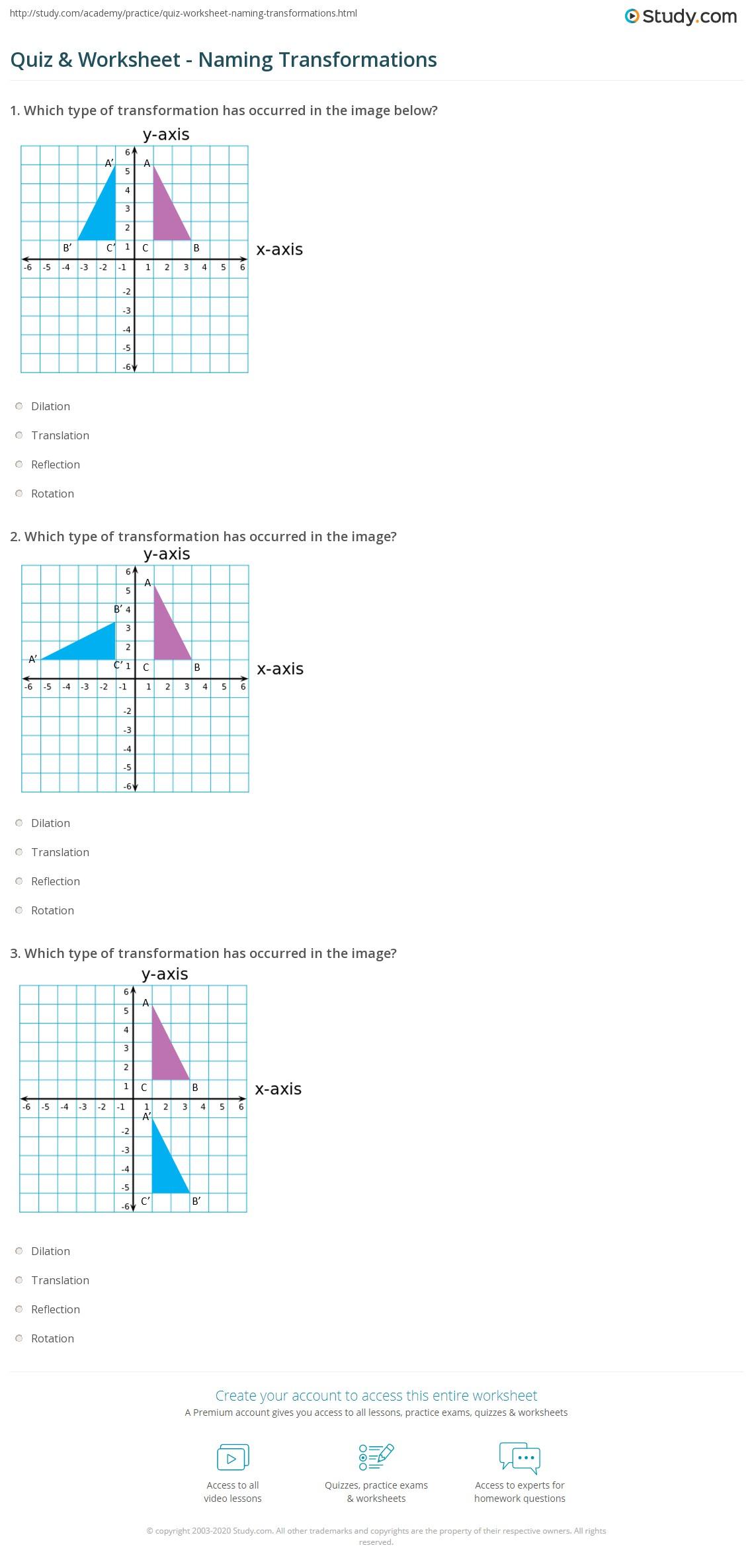 Quiz W Ksheet N M G Tr Ns M Ti S Study