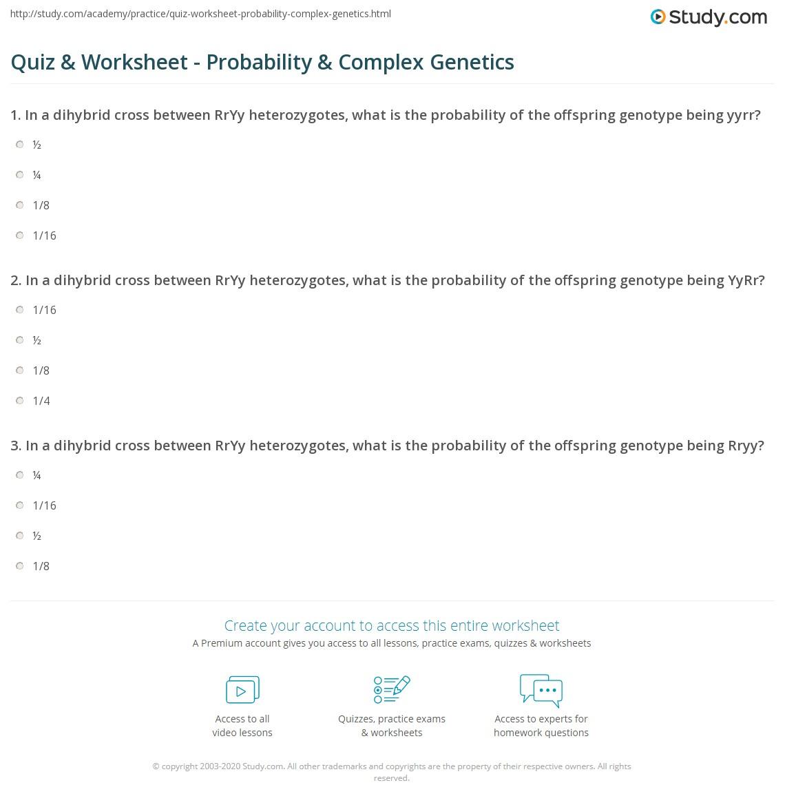 Quiz W Ksheet Prob Bility Plex Ge Ics Study