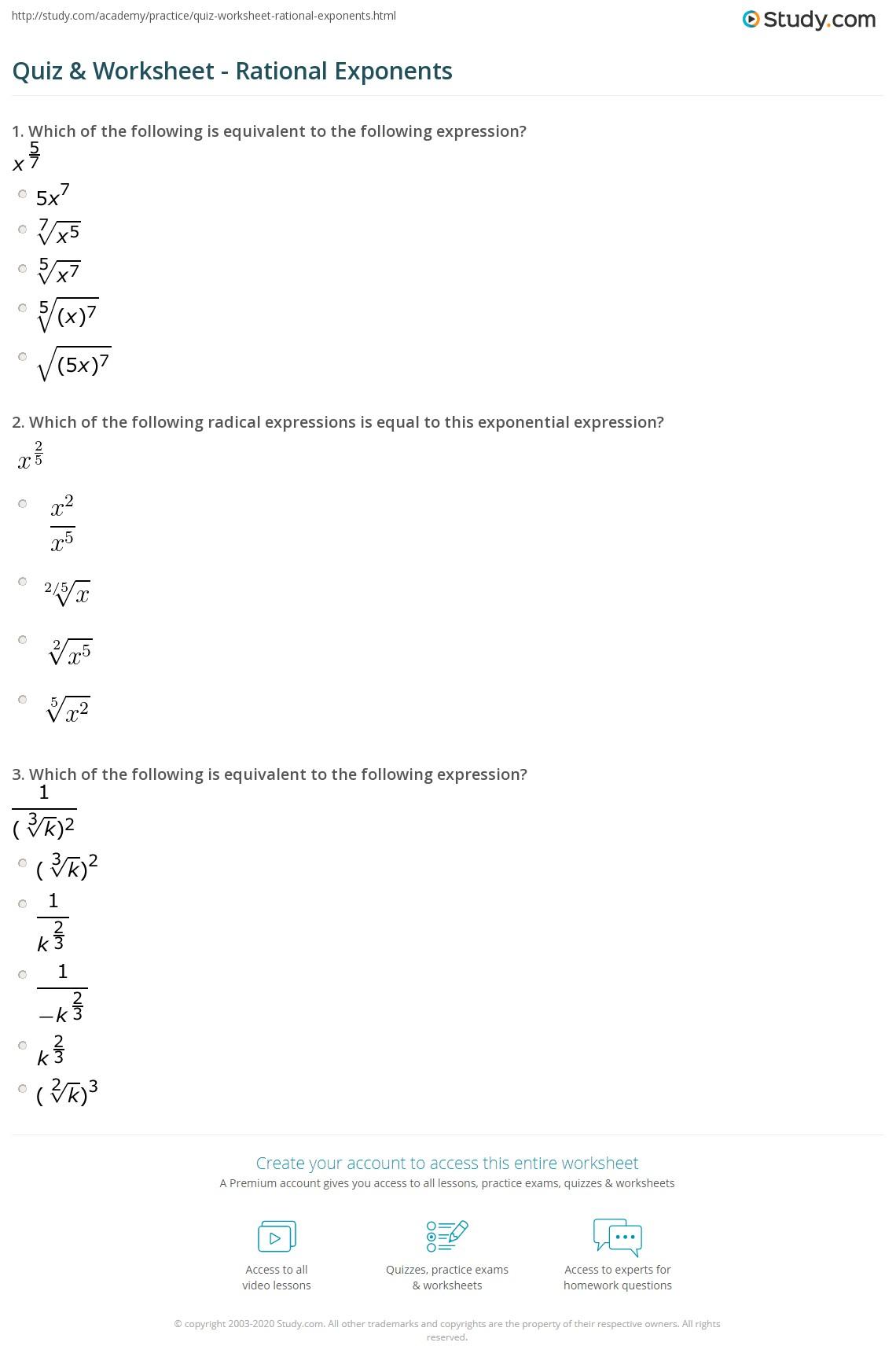 Quiz W Ksheet R Ti L Exp Ents Study