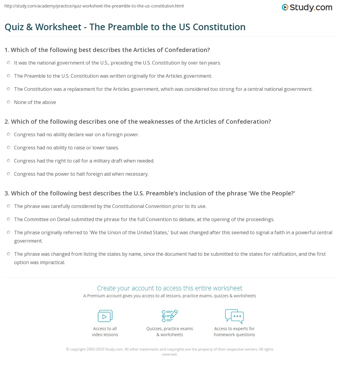worksheet The Constitution Worksheet Answers the constitution worksheet free worksheets library download and quiz w ksheet pre mble to us c stituti study