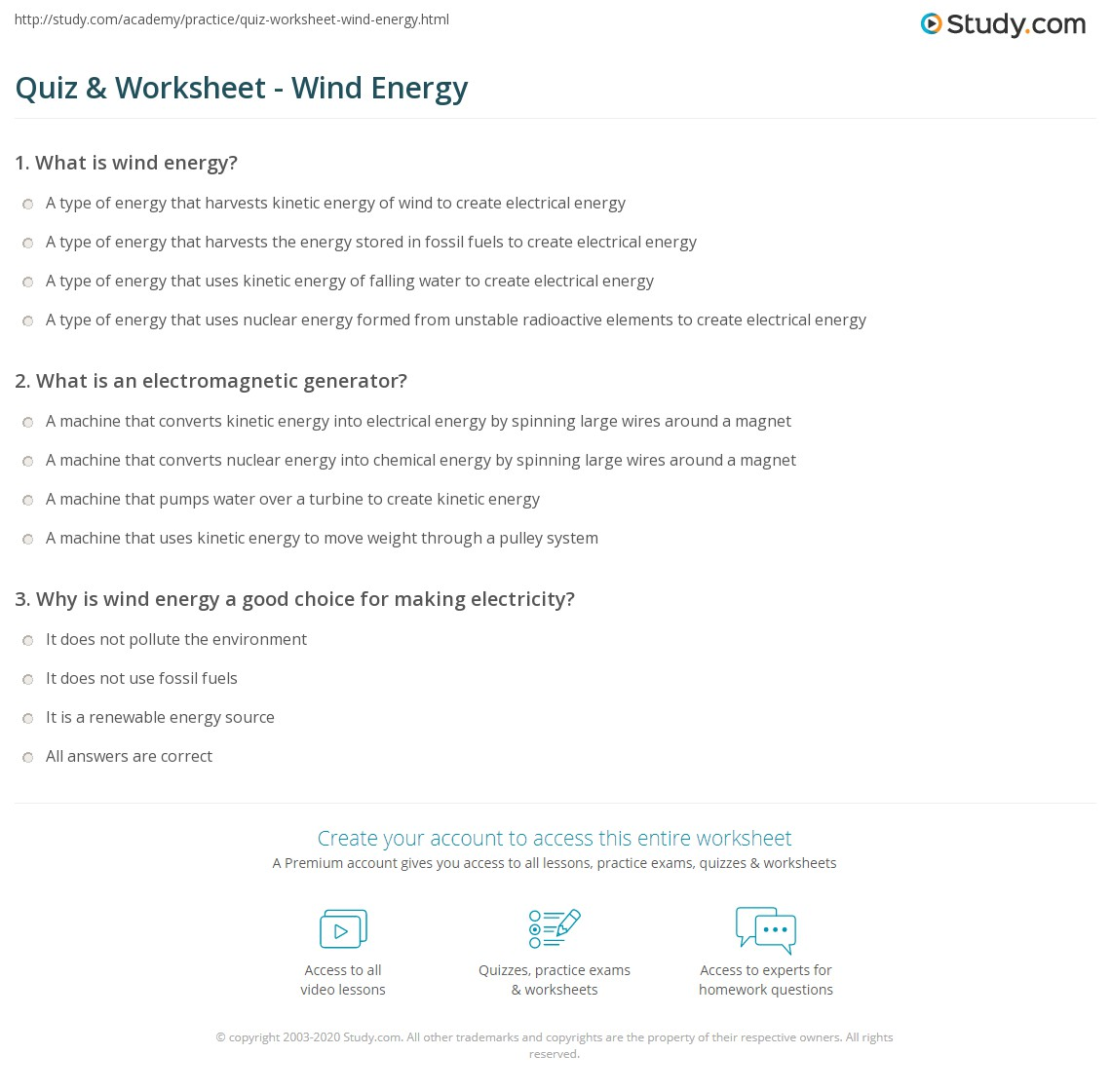 Quiz W Ksheet W D Energy Study