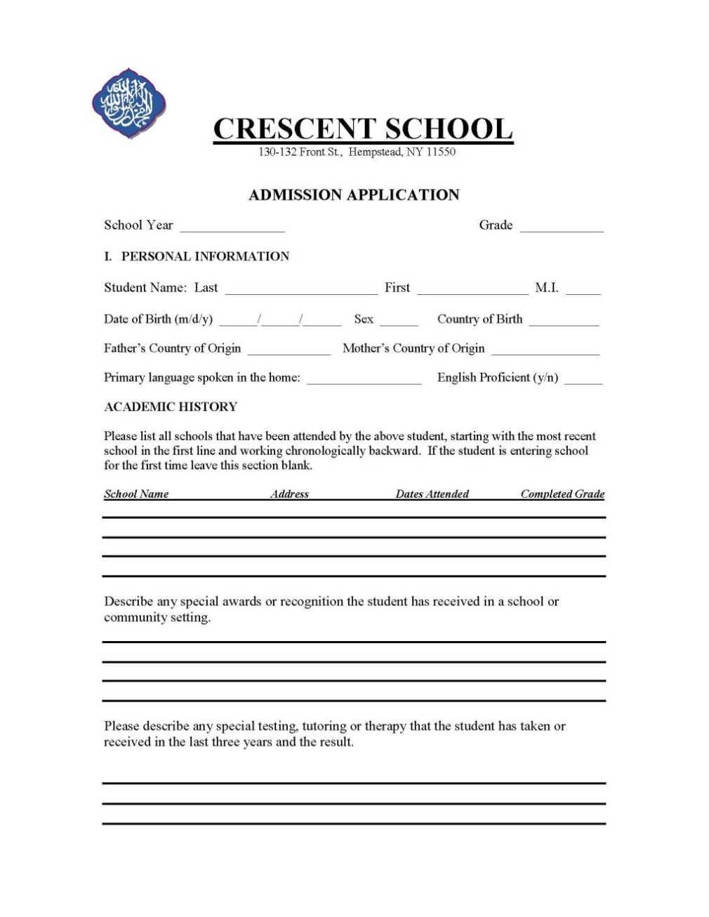 New York State Birth Certificate Transcript