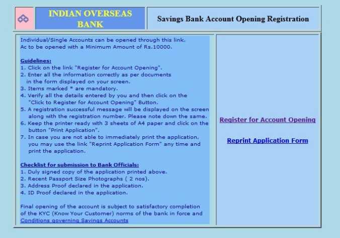 Iob Personal Banking