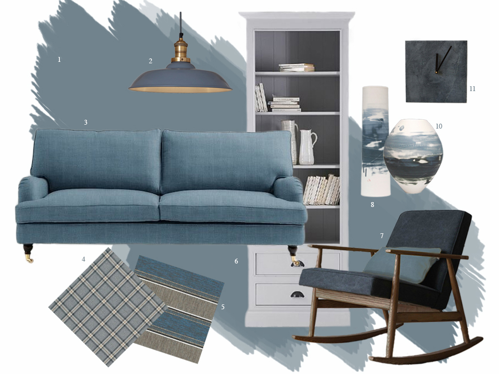 Style Amp Co Moody Blues Moodboard Featuring Denim Drift
