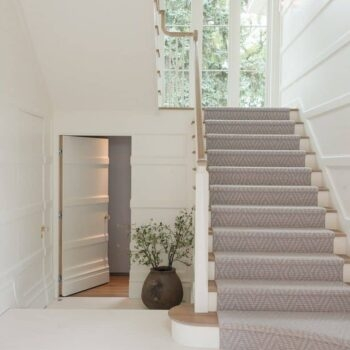 Should I Add A Carpet Or Rug Runner To My Mountain House Staircase | Changing Carpeted Stairs To Wood | Stair Railing | Wood Flooring | Stair Case | Laminate Flooring | Staircase Makeover