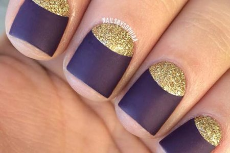 navy blue and gold nails » Full HD MAPS Locations - Another World ...