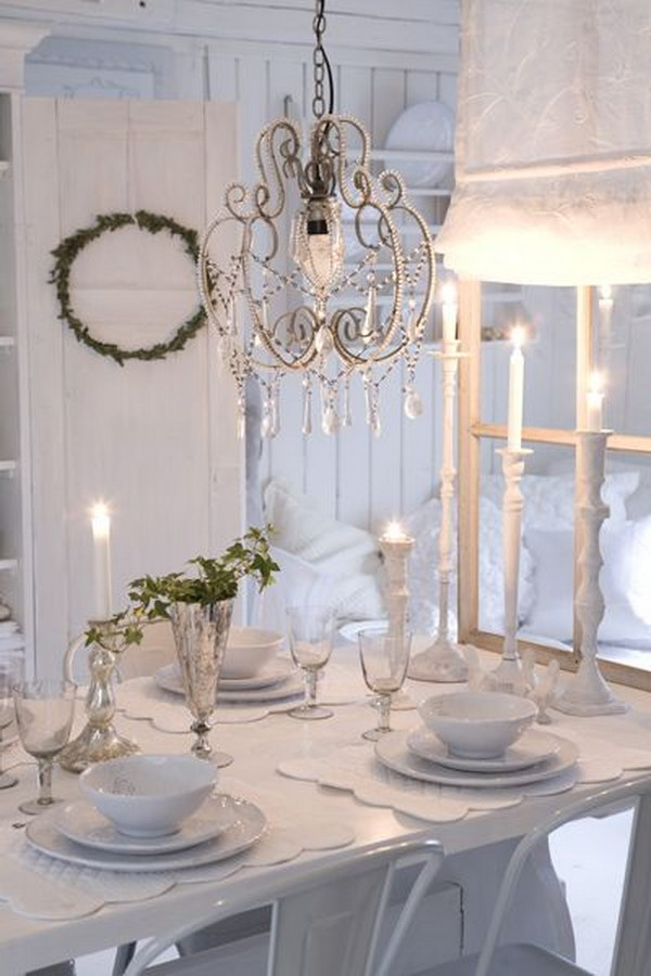 Long White Dining Table