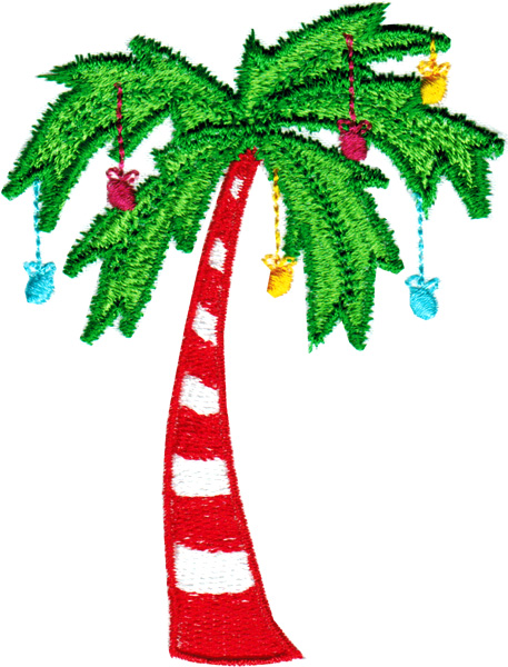 Palm Tree Decorated Christmas