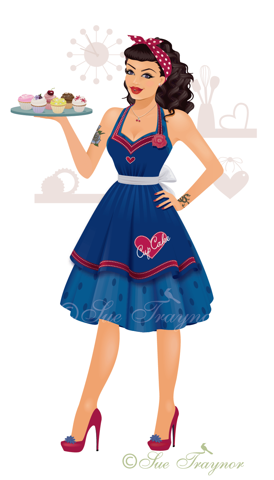 Cup Cake Pin-up Girl