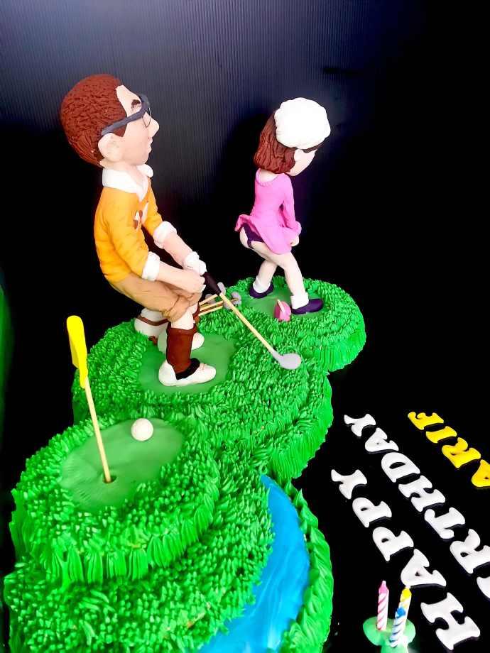Funny Golf Sugar Sweet Cake