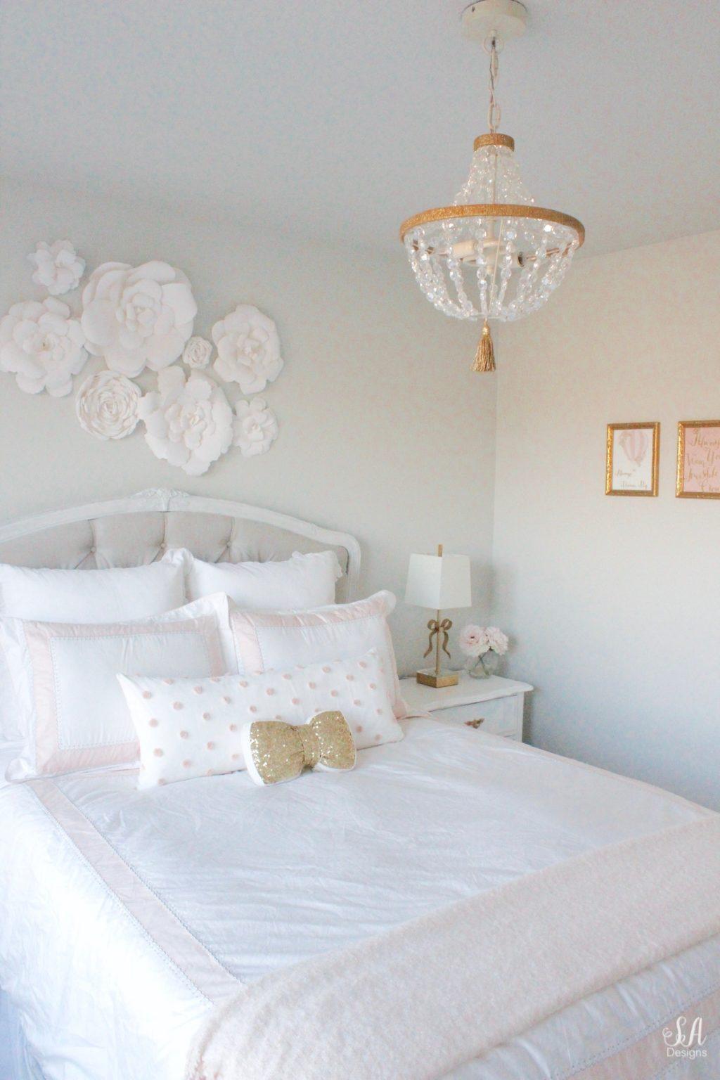 Tween Girl S Bedroom In Blush Gold Amp Grey 3 Summer Adams