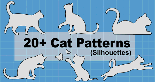 Cat Patterns Stencils Clip Art And Silhouettes
