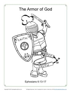 Armor of God for Kids - Coloring Page Activity