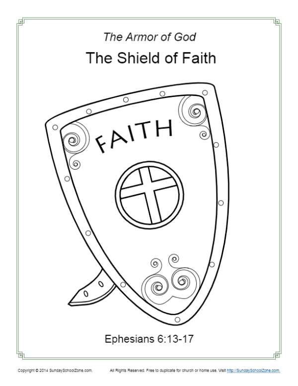 shield coloring page # 7