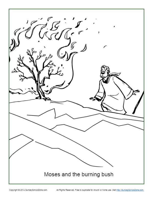 burning bush coloring page # 0