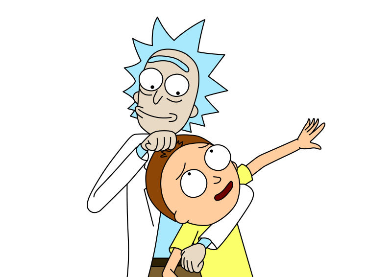 Morty Line And Art Rick Characters