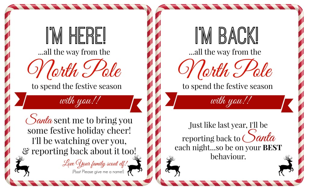 Christmas Scavenger Hunt Blank Tags