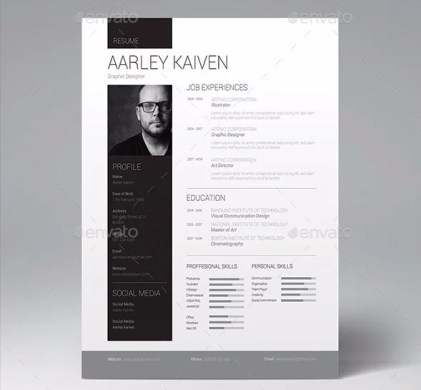 28 Minimal   Creative Resume Templates   PSD  Word   AI  Free     clean professional resume