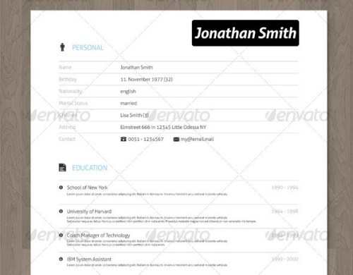 28 Minimal   Creative Resume Templates   PSD  Word   AI  Free     clean resume vector template
