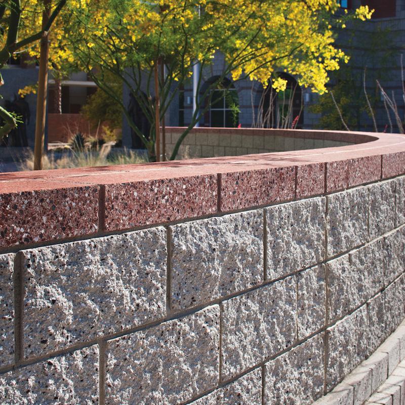 Split Block Concrete Face White