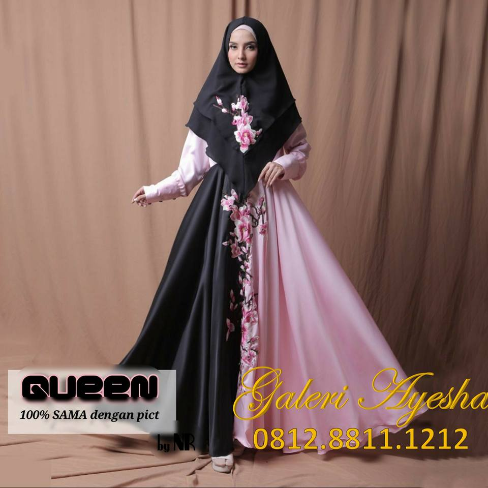 Queen Syari Party Dress Made By Order Galeri Ayesha Jual Baju Pesta Modern Syari Dan