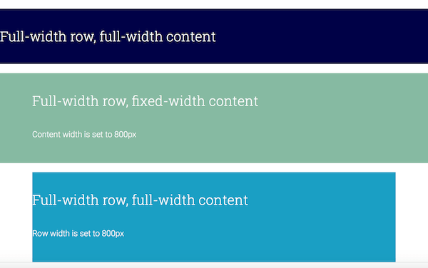 BB – Row layouts: full width and fixed width