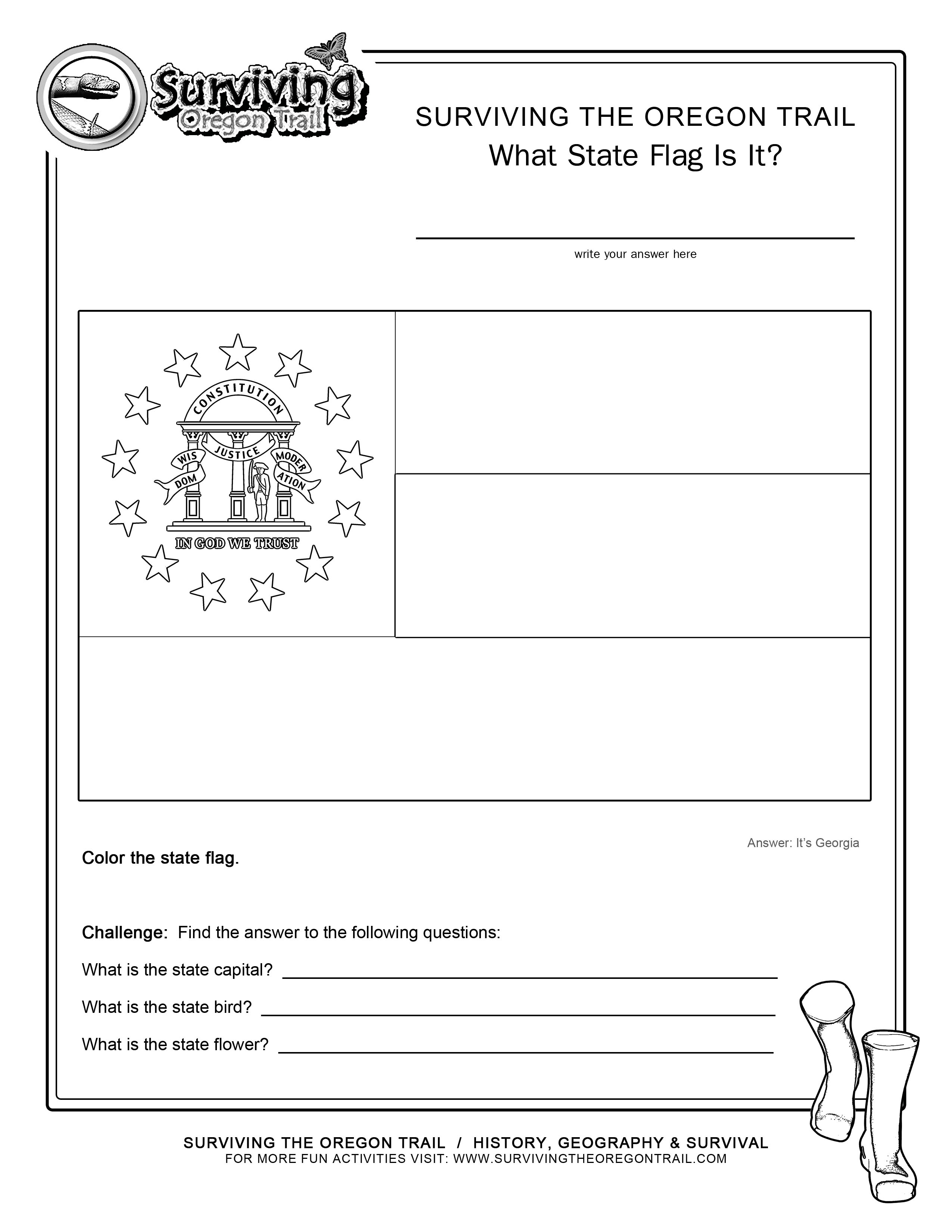 Georgia Map Coloring Page