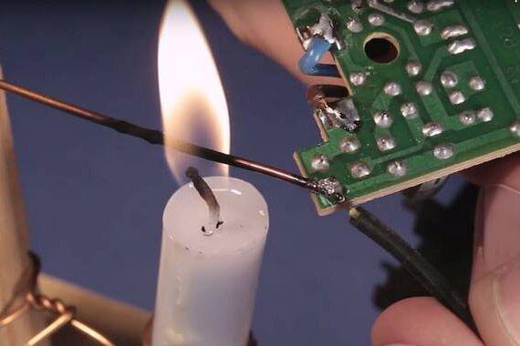 촛불 납땜