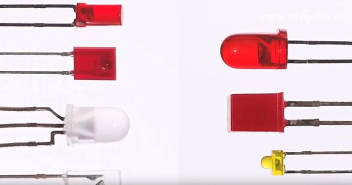 Τύποι LED δείκτη DIP