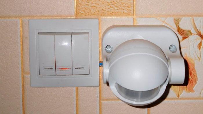 Bewegungssensor auf gemeinsamer Beleuchtungswohnung